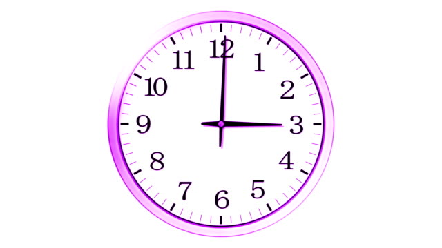 Wall clock video