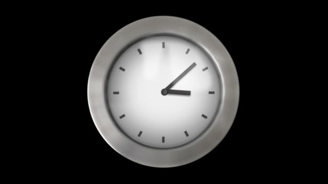 Wall clock without numbers. 1 frame per minute. Loopable. White. video