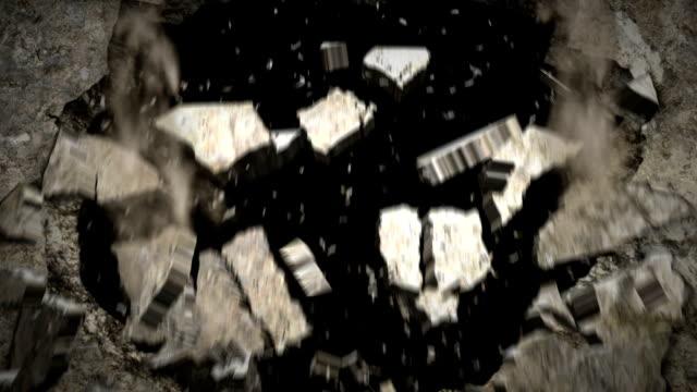 Wall Crash + alpha channel video