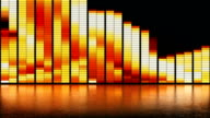 LED wall fire pattern background video