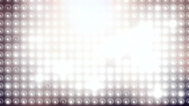 Wall of blinking spot lights video