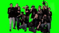wall of photographers - green screen video