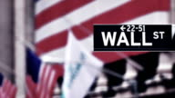 Wall Street sign, downtown Manhattan, New York City video