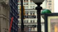 Wall Street Sign HD video