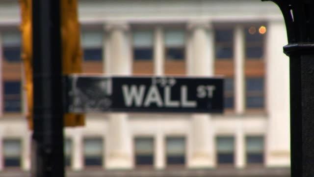 Wall Street Sign II HD video