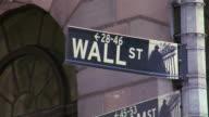 Wall Street Sign. video