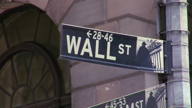 Wall Street Sign. video