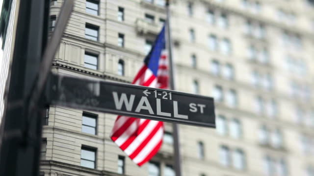 Wall Street Sign (Tilt Shift Lens) video