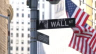 Wall Street Sign video