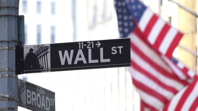 Wall Street Sign video