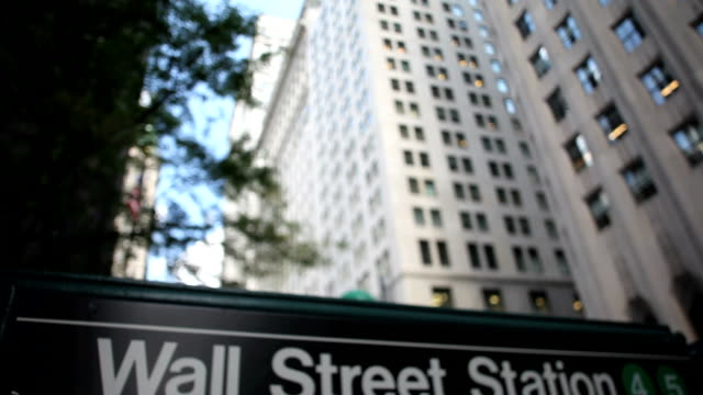 Wall Street Subway Sign video