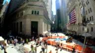 Wall Street Timelapse video