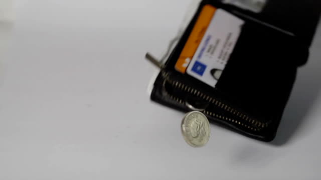 Wallet Falling In Slow Motion On White video