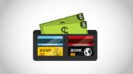 Wallet with bills design video