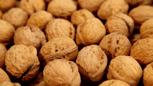 Walnuts background video