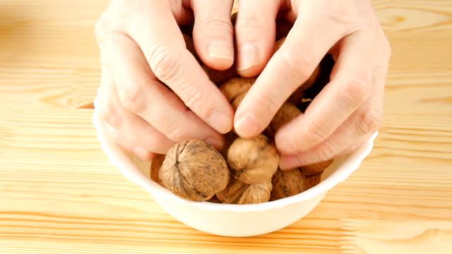 Walnuts in a bowl. video