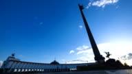 War memorial on Poklonnaya Hill at sunset video