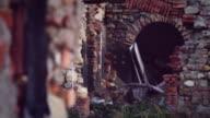 War Movie Scene: Hiding behind a Wall video