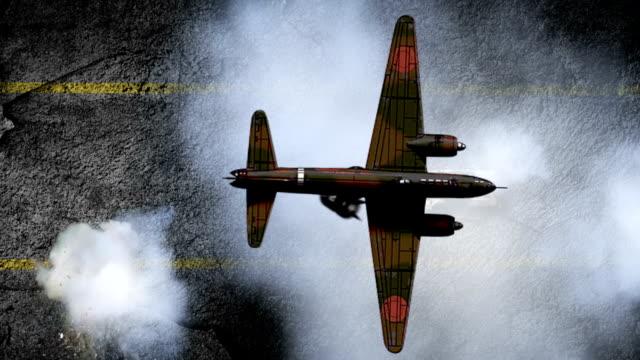 War World II aircraft attacks tank video