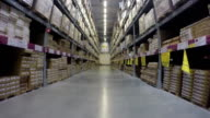 Warehouse moving inside video