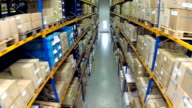 Warehouse with packages video