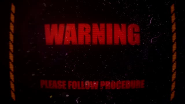 Warning Alert Signal on an Old Dirty Screen video