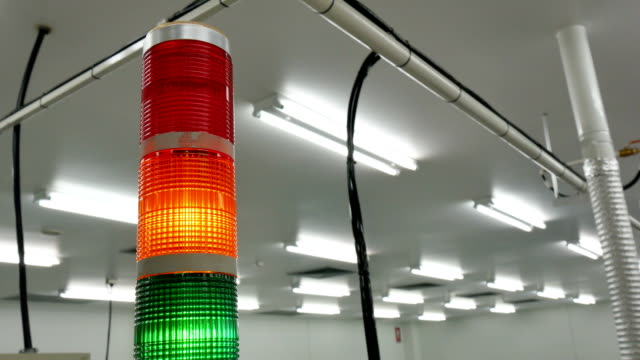 Warning light alarm for machine working video