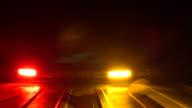 warning light on emergency vehicle directional arrow video