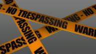 Warning No Trespassing + Alpha included video