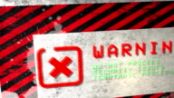 Warning Sign. HD video