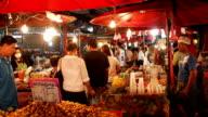 Warorot night market in Chiang Mai Thailand. video