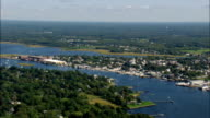 Warren  - Aerial View - Rhode Island, Bristol County, United States video