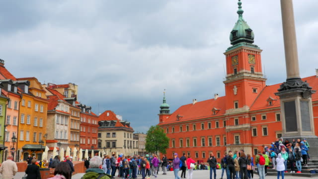 Warsaw Poland Town City Center, Old Historic View, Europe Travel video
