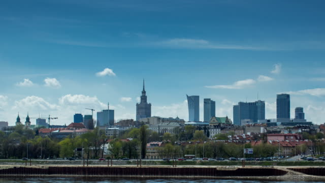 Warsaw Skyline Hyperlapse video