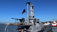 Warship in the Fisherman's Wharf area of San Francisco video