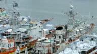 warships at berth video
