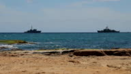 Warships take part in international military exercises in the Mediterranean sea video
