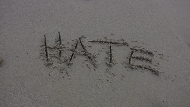 'HATE' Washed Away on the Beach video