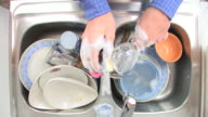 HD: Washing A Wineglass video