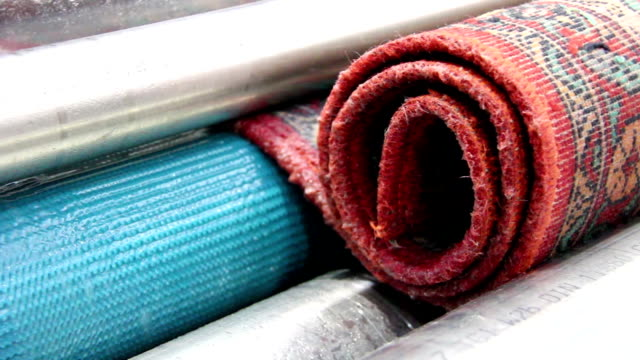 Washing and cleaning of carpets video