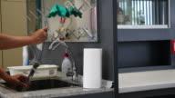 Washing glassware in laboratory video