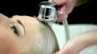 Washing hair video