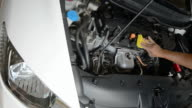 Washing the Car and inspect engine compartment for trouble video