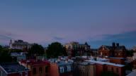 Washington DC city center urban sunset time lapse video
