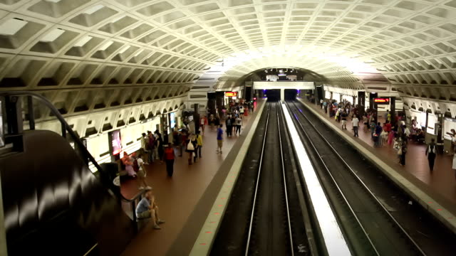 Washington DC Metro Train Station video