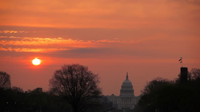 Washington DC - US Capitol sunrise video