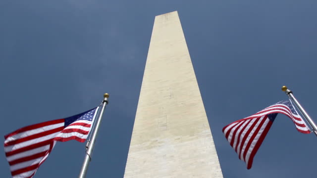 Washington Monument and flags video