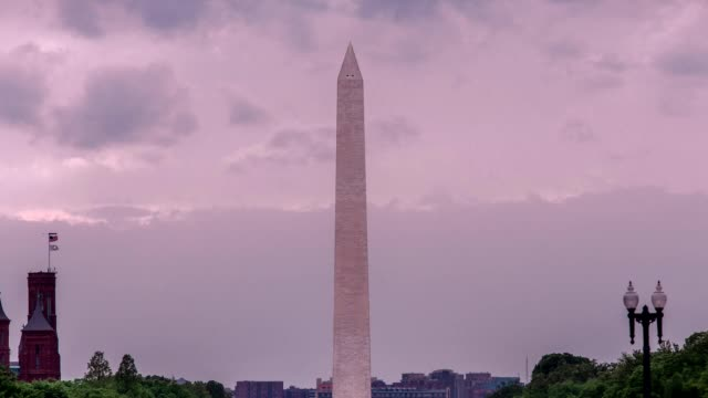 Washington Monument and National Mall at Sunset Time Lapse in Washington, DC video