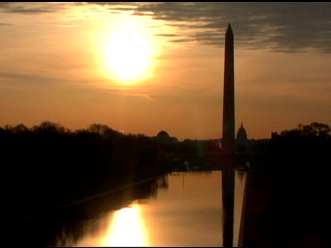 Washington Monument at sunset/sunrise video
