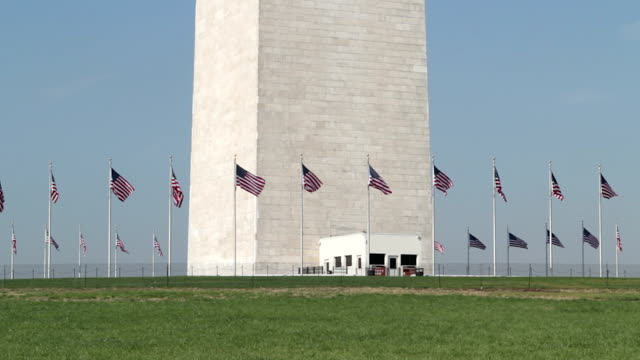 Washington Monument at the Mall tilt close up video